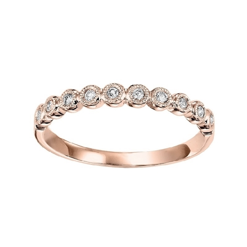 Rose Gold Diamond Band by Gems One