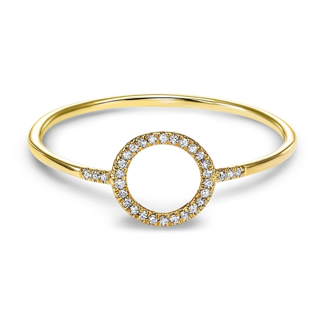Fashion Diamond Circle Ring by Gems One