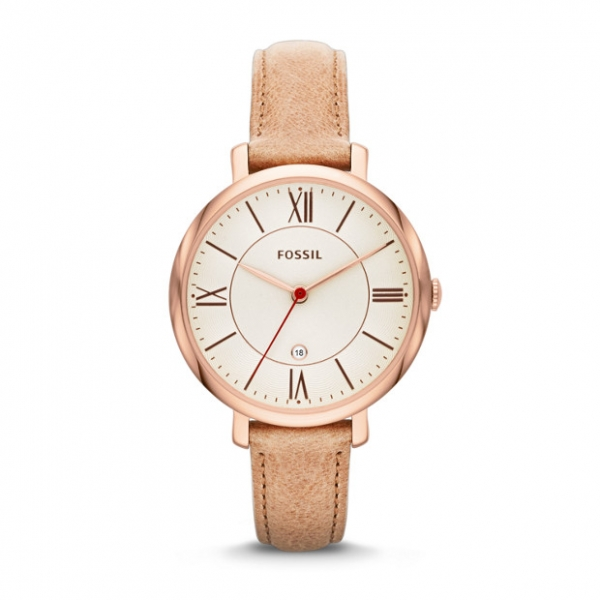 Fossil Jacqueline Sand Leather Watch by Fossil