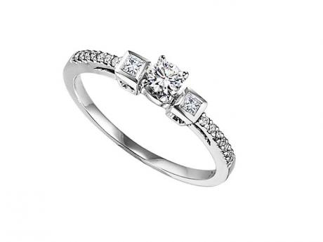 Three Stone Diamond Engagement Ring by Bridal Bells