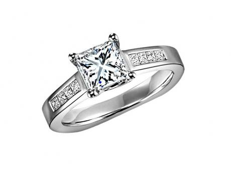 With 1ct Center Stone : HDR1416E by Bridal Bells