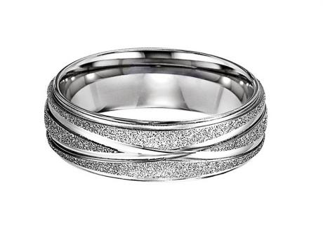 Steel Diamond Cut Band : TS1028 by Bridal Bells