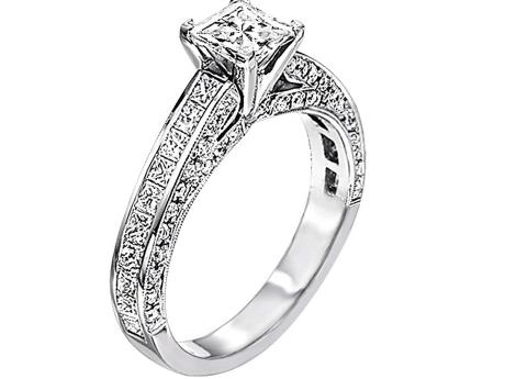 With 3/4ct Center Stone : WB5522E by Bridal Bells