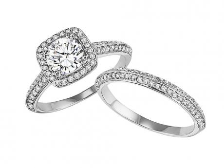 With 1ct Center Stone : WB5700E by Bridal Bells